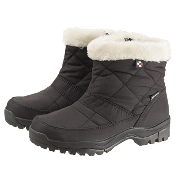 【日本 Caravan】女短筒防水保暖雪鞋『黑』0023123 雪靴 │ 透氣 │ 輕量.保暖鞋.抗寒.短靴