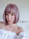 全頂假髮 韓系個性短髮 PONY挑染霧面紫 直順短髮 高品質假髮D8513 魔髮樂