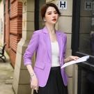 秋冬春夏女裝金屬雙粒扣職業化暖系西裝外套通勤職業裝M602快時尚