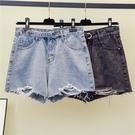短褲熱褲中大碼加大碼牛仔短褲女 寬松闊腿褲200斤胖妹妹夏裝顯瘦熱褲潮G980.1號公館