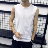 背心 純棉無袖T恤男 寬鬆運動齊肩籃球汗衫健身跑步大碼背心學生上衣潮 交換禮物
