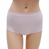 【LADY】舒柔貼身棉高腰平口褲(粉色)
