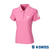 K-SWISS PF RE Melange Polo排汗POLO衫-女-桃紅