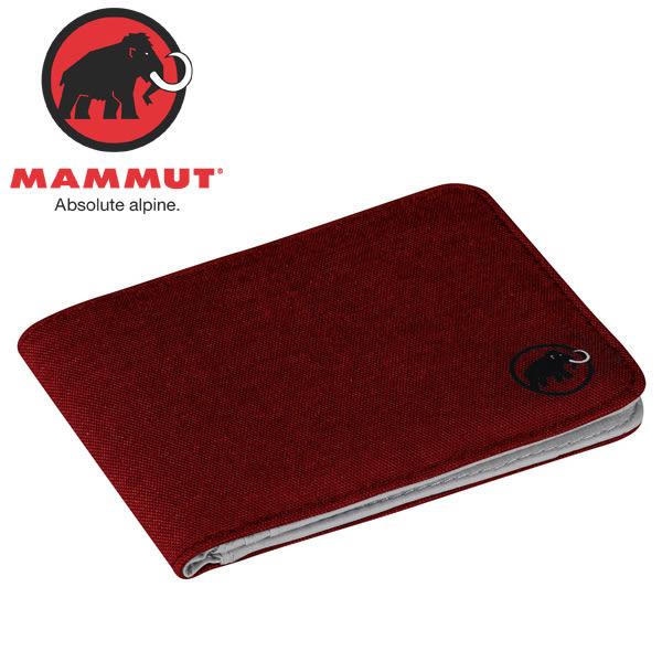 Mammut長毛象 2520-00710-3438熔岩紅 多功能雙折短夾/錢包/皮夾鈔票夾