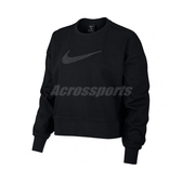 Nike 長袖T恤 Dri-FIT Get Fit Fleece Sparkle Training Top 黑 銀 女款 運動休閒 【ACS】 CU9015-010