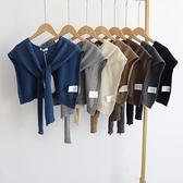 韓國hello 2021年秋冬款純色氣質款時尚單品背心 外搭披肩 貝芙莉