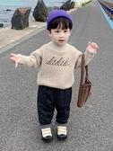 男童上衣男童毛衣套頭新款兒童加厚高領水貂絨打底衫寶寶秋冬款針織衫童趣屋促銷好物