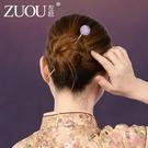 ?簪 盤?頭飾韓國簡約百搭現代醋酸女盤頭簪子日式插針氣質插梳