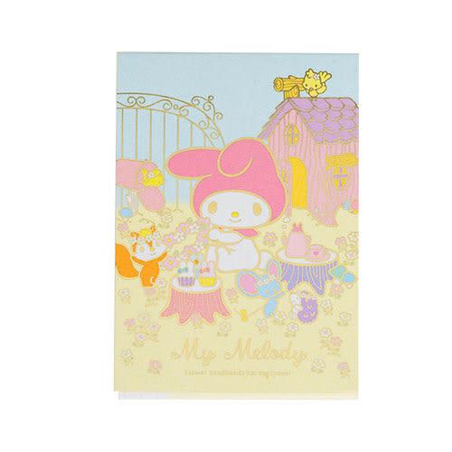 《Sanrio》美樂蒂40週年快樂紀念日系列迷你便條本(花園好朋友)★funbox生活用品★ UA47293