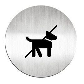 迪多Deflect-o 鋁質圓形貼牌-禁止攜帶寵物 610710C