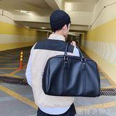 旅行袋商務休閒男士旅行手提包短途旅遊包韓版公事包休閒包單肩斜跨包 蘿莉小腳ㄚ