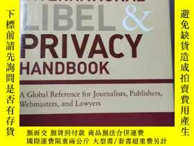 二手書博民逛書店International罕見Libel and Privacy HandbookY21144 Charles