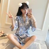 日系睡衣女夏學生兩件套韓版清新薄款短袖休閒少女家居服套裝