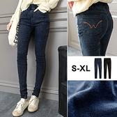 MIUSTAR 後口袋W配色車線牛仔長褲(共2色,S-XL)【NH1270EW】預購