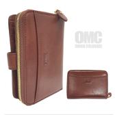 《高仕皮包》【免運費】OMC  原皮質感簡約式中夾OMC95133-02