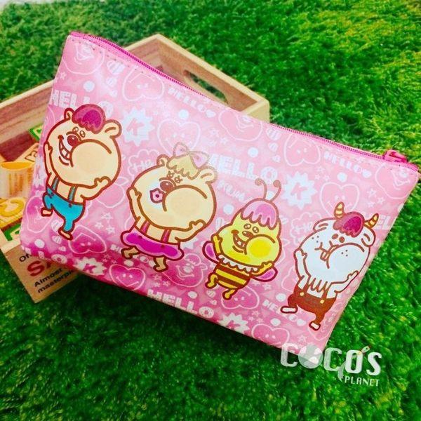 WC熊 kumatan T型化妝包 撞玻璃 化妝包 收納包 筆袋 粉色款 COCOS WC180