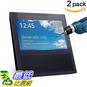 [106美國直購] CAVN 2 Pcs Amazon Echo Show Screen Protector HD Clear 9H Hardness Tempered