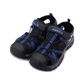 DIADORA 魔鬼氈護趾運動涼鞋 黑藍 DA71196 男鞋