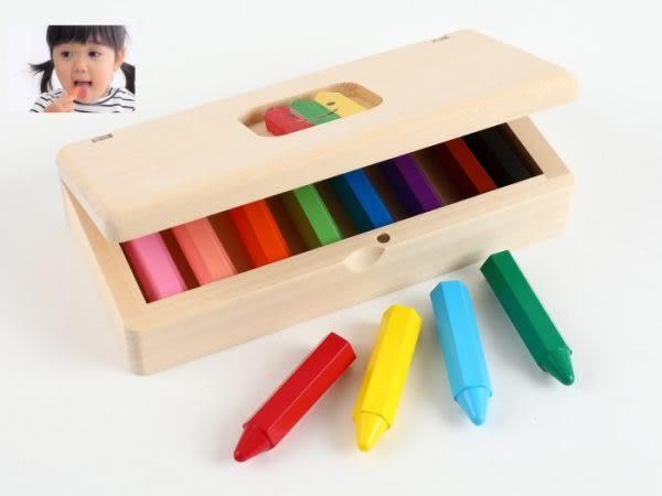 CRAPITSU 日本製安全無毒蠟筆 木盒裝(北海道之木)