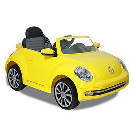 福斯Beetle/高端版/搖控金龜車/電動車/黃色/可遙控/兒童電動車(可遙控控制速度版)