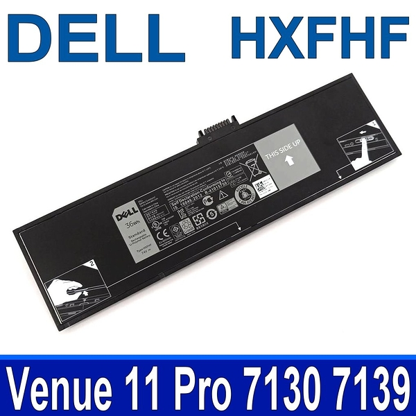 DELL HXFHF 2芯 . 電池 Venue 11 Pro 7130 7139 Tablet VJF0X VT26R XNY66