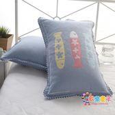 三層紗布棉質枕套加厚枕巾套一對裝全棉枕頭套單人歐式情侶枕芯套