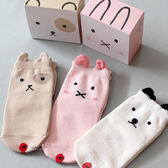 兒童防滑襪 童襪 止滑襪  韓國豆豆動物棉質止滑短襪