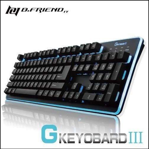 鍵盤 B.Friend GKEYBOARD Ⅲ 七色LED發光遊戲鍵盤 黑/白 GK3 有線鍵盤 遊戲鍵盤 電腦周邊