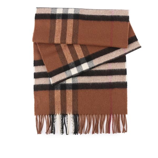 【BURBERRY】基本款經典格紋喀什米爾圍巾(暗樺木棕色) 8037147