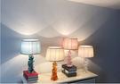 110V-220V 琉璃彩色檯燈臥室北歐軟裝玻璃床頭燈馬卡龍--不送光源