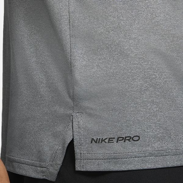 NIKE PRO DRI-FIT 男裝 短袖 訓練 休閒 導濕 速乾 開衩下襬 灰【運動世界】CZ1182-010