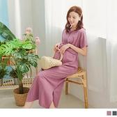 《MA0412》舒適腰綁結孕婦長洋裝 OrangeBear