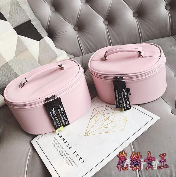 化妝箱 女韓版大小號化妝箱便攜大容量收納包手提洗漱包 BF9831【花貓女王】