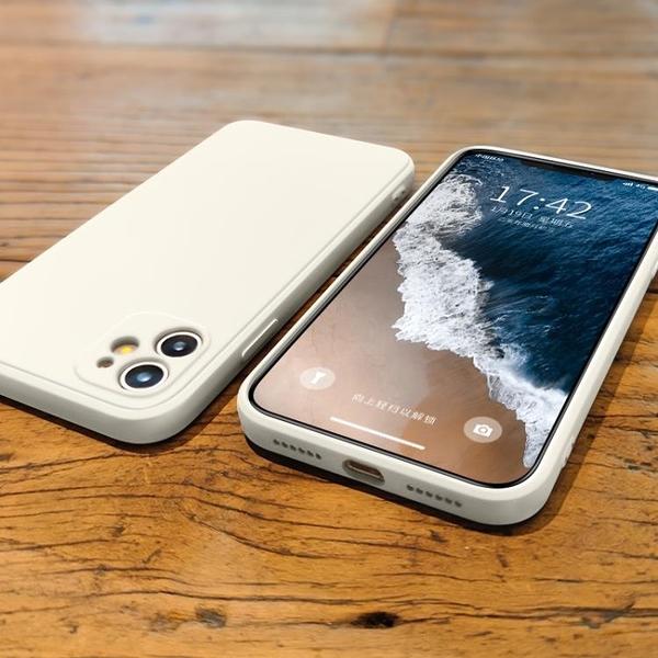 蘋果11手機殼直邊方形iphone11promax新款液態硅膠11pro攝像頭全包 雙十一全館免運