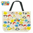 B款【日本正版】TSUM TSUM 帆布 托特包 肩揹提袋 肩背包 手提袋 迪士尼 Disney - 065789