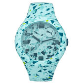 PUMA  動感延伸運動腕錶-藍色系