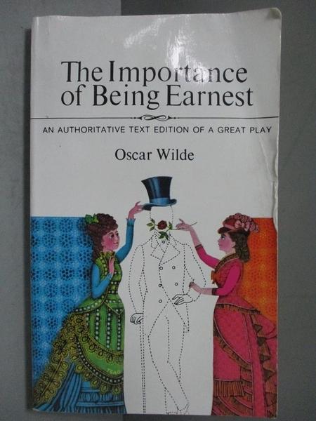 【書寶二手書T2/藝術_NEN】Importance of Being Earnest_Wilde, Oscar