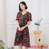 【RED HOUSE 蕾赫斯】幾何花樣洋裝