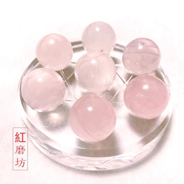 【紅磨坊】天然開運粉晶球每顆1.9CM 七星陣套組 避邪 開運 桃花【Ruby工作坊】 NO.19P7