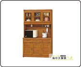 {{ 海中天休閒傢俱廣場 }} F-9 摩登時尚 餐廳系列 579-5  4尺正樟木碗櫥櫃(全組)