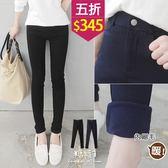 【五折價$345】糖罐子素面車線口袋縮腰內刷毛長褲→現貨(S-L)【KK6119】