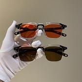 復古韓版新款太陽小方框米釘墨鏡女潮個性眼鏡男圓臉歐美網紅同款 童趣屋