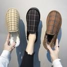 雪地靴女短筒韓版學生百搭冬季潮加絨一腳蹬棉鞋女2021新款面包鞋 滿天星