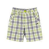 『小鱷魚童裝』草綠格紋短褲(02號~06號)555687