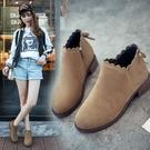 韓版秋季新款英倫百搭女靴平底短靴網紅女鞋單靴女馬丁靴粗跟 韓國時尚週