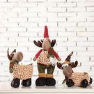 聖誕提前購大號聖誕雪人娃娃玩偶組合場景擺件堆頭布置公仔禮物聖誕節裝飾品