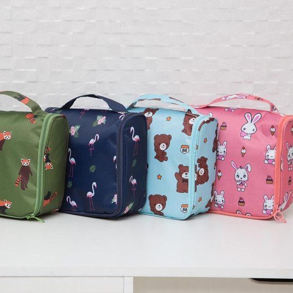 《簡單購》韓風可愛動物防潑水可懸掛旅行用盥洗包/化妝包/小物收納包
