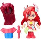 日本 紅鶴天使變裝公仔_BD57058N 光之美少女 元氣魔法 BANDAI 公司貨