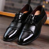 男士商務婚紗攝影新郎結婚鞋男黑色尖頭影樓拍照演出酒店工作皮鞋【超低價狂促】