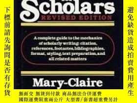 二手書博民逛書店A罕見Handbook For Scholars-學者手冊Y436638 Mary-claire Van L.